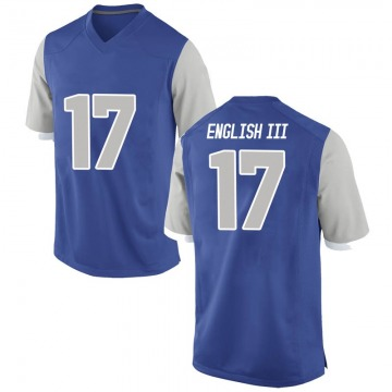Men's Beau English III Air Force Falcons Nike Replica Royal Football College Jersey