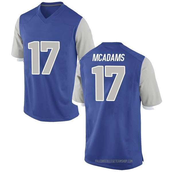 Men's Drew McAdams Air Force Falcons Nike Game Royal Football College Jersey