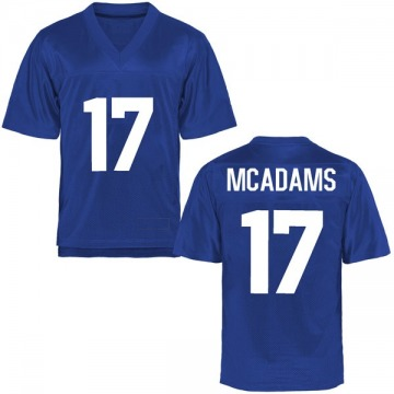 Men's Drew McAdams Air Force Falcons Replica Royal Blue Football College Jersey