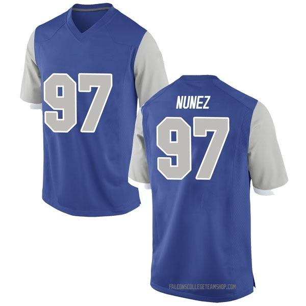 Men's Kaleb Nunez Air Force Falcons Nike Game Royal Football College Jersey