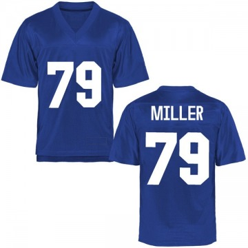 Men's Stone Miller Air Force Falcons Replica Royal Blue Football College Jersey