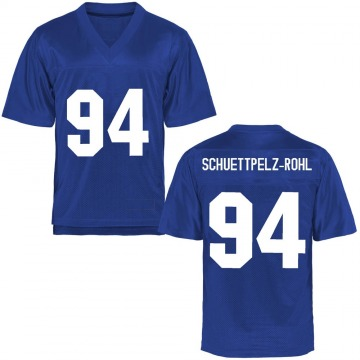 Men's Tevye Schuettpelz-Rohl Air Force Falcons Game Royal Blue Football College Jersey
