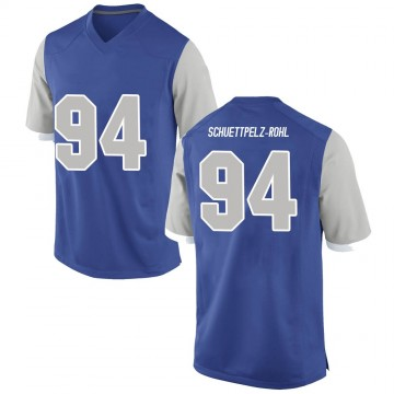 Men's Tevye Schuettpelz-Rohl Air Force Falcons Nike Replica Royal Football College Jersey