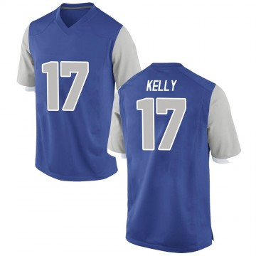 Men's Zion Kelly Air Force Falcons Replica Royal Football College Jersey