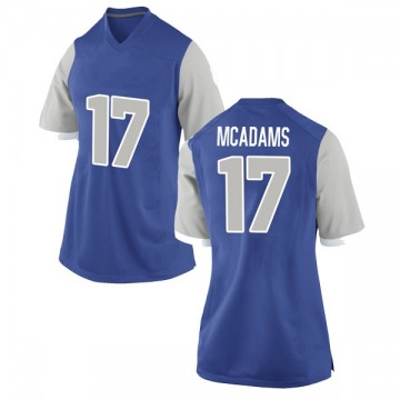 Women's Drew McAdams Air Force Falcons Nike Game Royal Football College Jersey