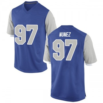 Youth Kaleb Nunez Air Force Falcons Nike Game Royal Football College Jersey